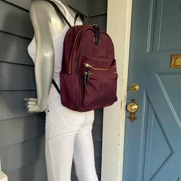 """KATE SPADE plum nylon """"Bradley"""" large backpack"""